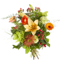 Boeket Gemengde oranje bloemen