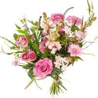 Boeket Gemengde roze bloemen